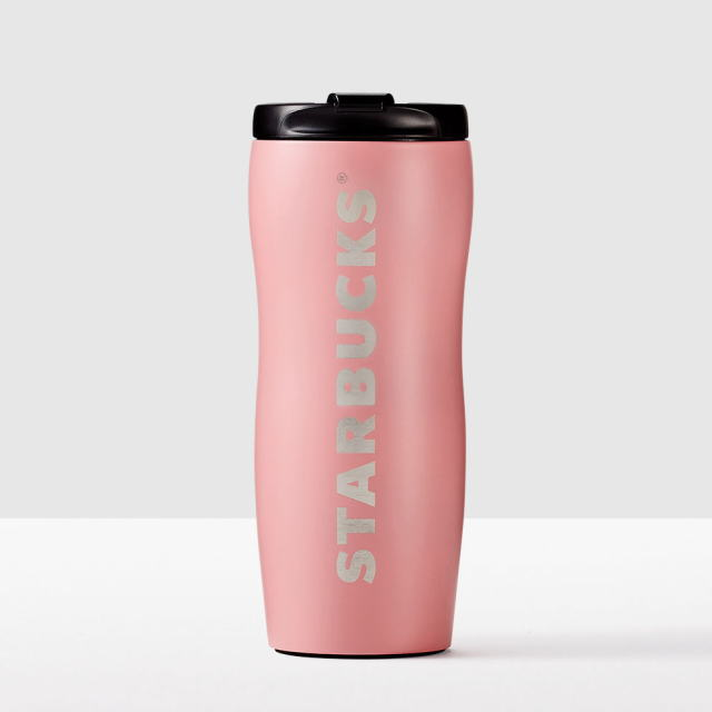 Shaped Stainless Steel Tumbler-PinkTall 12floz/354ml