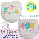 【日本製】【メール便OK】なかよしショーツ2枚組 100/110/120/130 日本製ジュニアパンツ女の子10P01Oct16