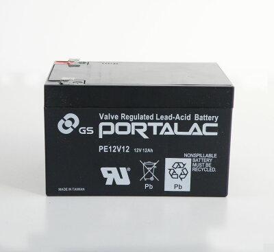 【PORTALACシリーズ】台湾GS・UPS・無停電電源装置・蓄電器用バッテリー小型シール鉛蓄電池[12V12Ah]PE12V12