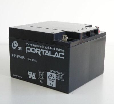 【PORTALACシリーズ】台湾GS・UPS・無停電電源装置・蓄電器用バッテリー小型シール鉛蓄電池[12V24Ah]PE12V26A