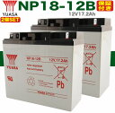 2個SET ★送料無料★YUASA NP18-12B バッテリー UPS・溶接機・電動カート・セニアカー各種 (12V18Ah) バッテリー[ヘッズ ナノアーク6000 Z20][キシデン工業 ウェイティ ハイパーライト][デンヨー溶接機 BDW-170 BDW-180MC ]