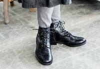 【TODAY'Sトゥデイズ】【送料無料】【代引手数料無料】レディースショートブーツトラッドクラシカルな印象のレースアップブーツ神戸自社工場生産の本革素材!丁寧に作った上質のブーツをお届け(5525)