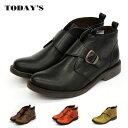 【TODAY 039 S トゥデイズ】【送料無料】【初回のみサイズ交換無料】コロンと丸いトゥがかわいい! おじ靴 レディース モンクストラップ シューズ マニッシュシューズ メンズライク 本革 革靴【22.0cm〜24.5cm】(2319)