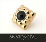 【ANATOMETAL】アナトメタル / ボディピアス 18金スレディッド?キラ?エンド (5mm / カボションカット)