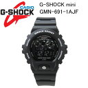 【G-SHOCK mini】Gショック ミニ 腕時計 カシオ CASIO 日本正規品GMN-691-1AJF ブラック/ブラックメンズ/レディース/腕時計あす楽!!