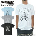 QUESTION x DAVE HANSONQUESTION BIKE RIDE TEETWOオリジナルTシャツ American Apparel アメリカンアパレル MADE IN USAメール便対応