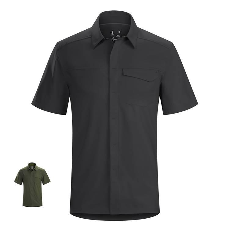【国内正規品】ARC'TERYX(アークテリクス)Skyline SS Shirt Mens(スカイラインシャツ ショートスリーブ シャツ) Black ブラック Gwaii グワイ