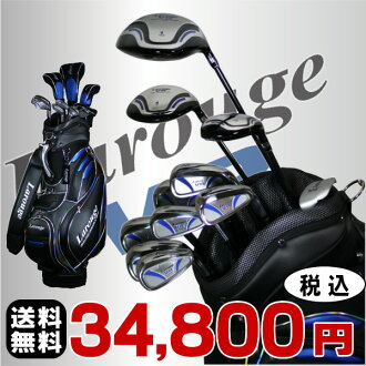 ※ Larouge-VR men golf set ( driver + fairway Wood + utility + iron set + putter + caddie bag) with the book case caddie bag :[fs2gm]
