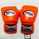 TWINS SPECIAL ボクシンググローブ 14oz オレンジ /ボクシング/ムエタイ/グローブ/キック/フィットネス/本革製