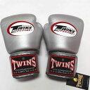 TWINS SPECIAL ボクシンググローブ 12oz 銀/ボクシング/グローブ/ムエタイ/キック/フィットネス/本革製