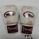 TWINS SPECIAL ボクシンググローブ 14oz 龍白 /ボクシング/ムエタイ/グローブ/キック/フィットネス/本革製/ツインズ