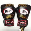 TWINS SPECIAL ボクシンググローブ 12oz 龍黒 /ボクシング/ムエタイ/グローブ/キック/フィットネス/本革製/ツインズ