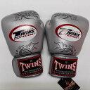 TWINS SPECIAL ボクシンググローブ 12oz 龍銀 /ボクシング/ムエタイ/グローブ/キック/フィットネス/本革製/ツインズ/大人用