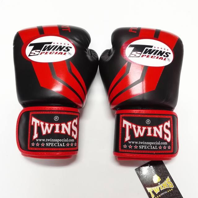 TWINS SPECIAL ボクシンググローブ 10oz Fs黒赤 /ボクシング/ムエタイ/グローブ/キック/フィットネス/本革製/ツインズ/大人用/オンス