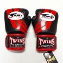 TWINS SPECIAL ボクシンググローブ 14oz Fs黒赤 /ボクシング/ムエタイ/グローブ/キック/フィットネス/本革製/ツインズ/大人用/オンス