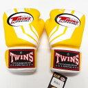 TWINS SPECIAL ボクシンググローブ 12oz Fs黄白 /ボクシング/ムエタイ/グローブ/キック/フィットネス/本革製/ツインズ/大人用/オンス