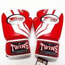 TWINS SPECIAL ボクシンググローブ 12oz Fs赤白 /ボクシング/ムエタイ/グローブ/キック/フィットネス/本革製/ツインズ/大人用/オンス