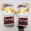TWINS SPECIAL ボクシンググローブ 16oz T龍白 /ボクシング/ムエタイ/グローブ/キック/フィットネス/本革製/ツインズ/大人用/オンス