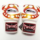 TWINS SPECIAL ボクシンググローブ 8oz 白赤爪 /ボクシング/ムエタイ/グローブ/キック/フィットネス/本革製/ツインズ/大人用/8オンス