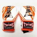 TWINS SPECIAL ボクシンググローブ 16oz TW白オレンジ /ボクシング/ムエタイ/グローブ/キック/フィットネス/本革製/ツインズ/大人用/16...