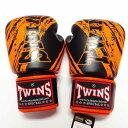 TWINS SPECIAL ボクシンググローブ 8oz TW黒オレンジ /ボクシング/ムエタイ/グローブ/キック/フィットネス/本革製/ツインズ/大人用/8オンス