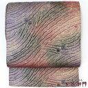 袋帯 正絹 レディース リサイクル フォーマル 礼装 全通柄 ふくれ織 紫 長さ455cm 幅30.5cm