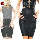 本革タイトスカート ロングスカート レディース(女性用) ボンデージファッション ナッパレザー スリット セクシーな女王様ファッション