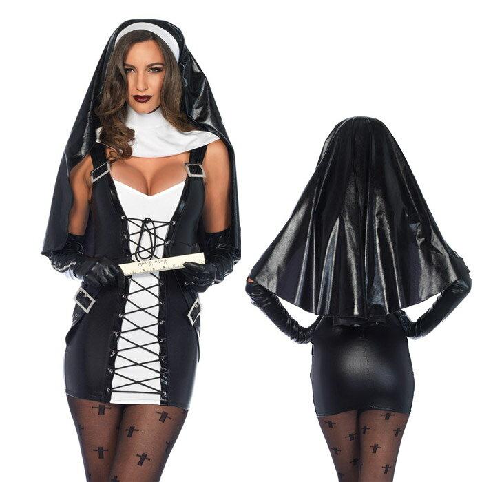 シスター コスプレ 3点セット 修道士の頭巾 フ...の商品画像