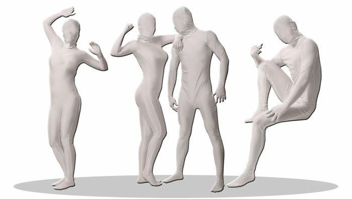 透明人間 パンテックス 白 L 全身タイツ ジョークグッズ コスチューム コスプレ 衣装 (JCS-460275):輸入品屋さん