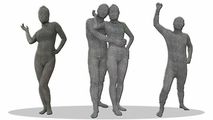 透明人間 豹柄 グレー M 全身タイツ ジョークグッズ コスチューム コスプレ 衣装 (JCS-460329):輸入品屋さん