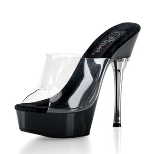 Pleaser/ALLURE-601-CLR-BLK