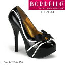 BORDELLO リボン&縁飾りハイヒールパンプス PL-Teeze-14 ◆取り寄せ