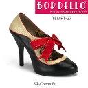 BORDELLO 赤いリボン付き2トーンハイヒールパンプス PL-Tempt-27 ◆取り寄せ
