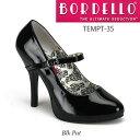 BORDELLO ストラップ付きシンプルハイヒールパンプス PL-Tempt-35 ◆取り寄せ
