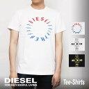 ディーゼル DIESEL Tシャツ メンズ T-DIEGO-Y2 MAGLIETTA 半袖 クルーネック トップス カットソー シンプル ロゴ ブランド シャツ おしゃれ ゆったり カジュアル 白 黒 S M L XL XXL 大きいサイズ