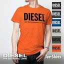 ディーゼル DIESEL Tシャツ メンズ トップス シャツ 半袖 ブランド カジュアル ストリート XS S M L XL XXL Uネック 丸襟 丸首 半袖