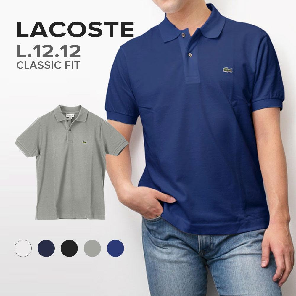 ラコステ Lacoste L12.12 Original Fit メンズ トップス ポロシャツ半袖 - クラシックフィット【ブランド】 ポロ シャツ ゴルフ 鹿の子