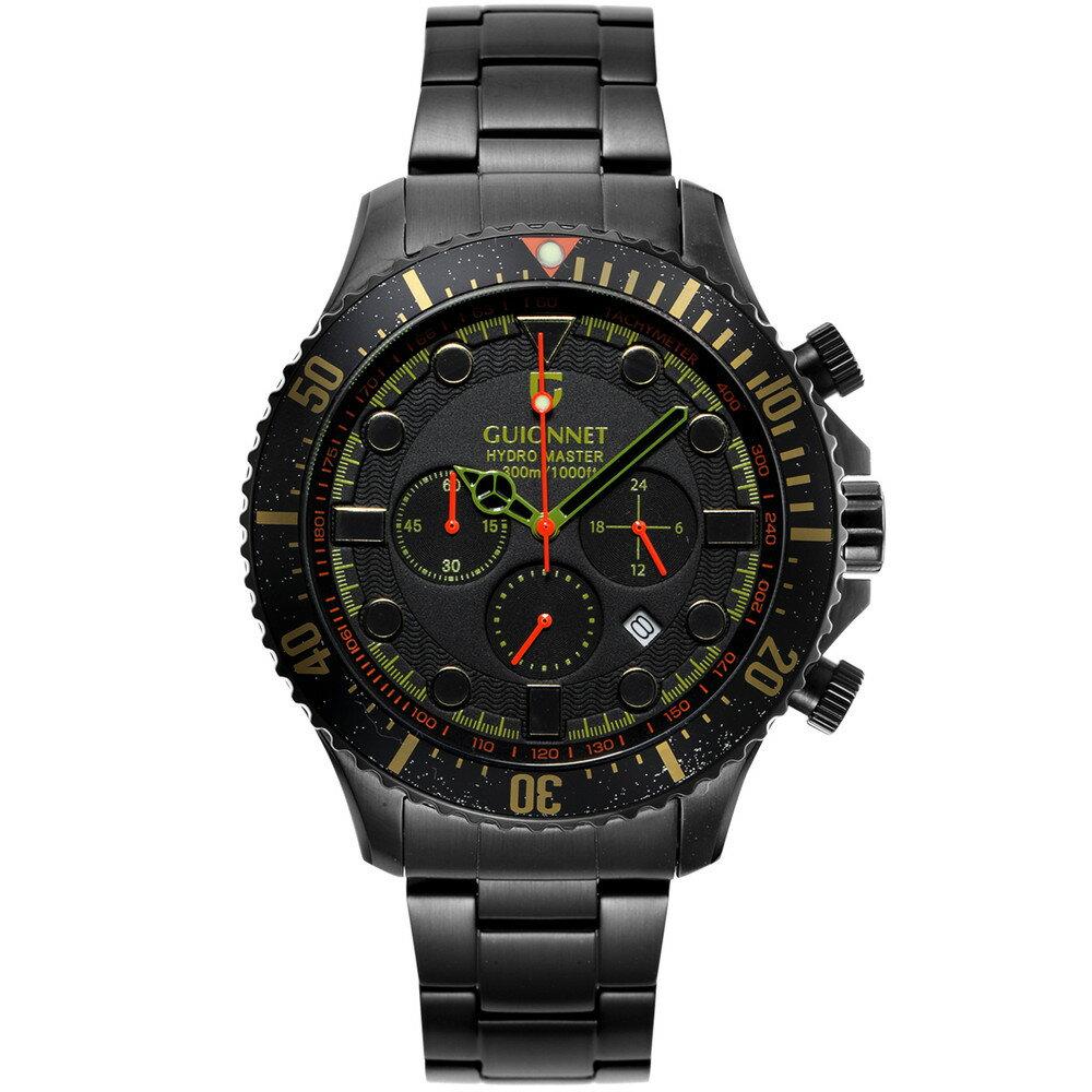 ギオネ GUIONNET ハイドロマスター プロダイバー クロノグラフ メンズ 時計 腕時計 PG-HM44BBKH 【ブランド】 とけい ウォッチ 【】【送料無料】ギオネ 腕時計 HM44 メンズ/【ブランド】 とけい ウォッチ小型