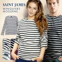 セントジェームス SAINT JAMES MINQUIERS MODERNE ユニセックス トップス Tシャツ 長袖 ボーダー【セントジェームス】