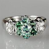是稀少石头alexandrite的大人可爱的指环!!0.8克拉金绿石戒指【K18白色合金】【】[10P01Mar15アレキサンドライト0.8ctリング【K18WG】【】]