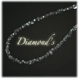 ブラックダイヤモンド原石ネックレス【SV925】