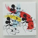 アートパネル スリーミッキー 40角   【キャンバスアート】【ウォールアートパネル】【ファブリックパネル】