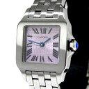 カルティエ CARTIER サントス ドゥモアゼル ピンク文字盤 SS 腕時計 レディース クォーツ【中古】【質屋出店】