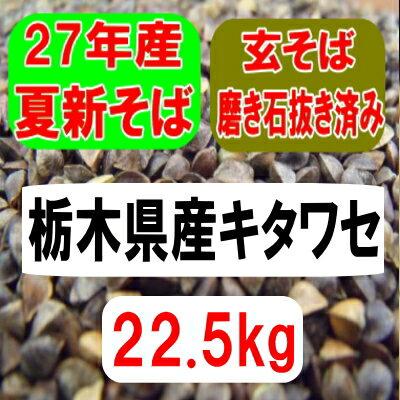 28年産新そば!!北海道産レラノカオリ・玄そば・磨き石抜き済み【22.5kg】