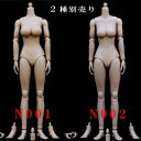 【(NoBrand)】N001 N002 1/6スケール 女性ボディ素体