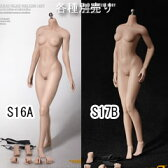 【Phicen】female super flexible seamless body PLMB2016-S16A S17B ファイセン 1/6スケール シームレス女性ボディ アジア(ヘッドなし)