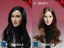 【SUPERDUCK】SDH001 A B 1/6スケール 植毛 女性ヘッド