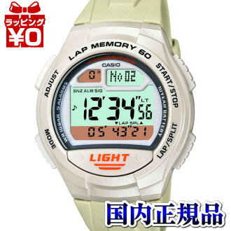 W-734J-7AJF Casio SPORTS GEAR domestic genuine, 10 ATM water resistant 10 year battery lap 60 watch watch WATCH sale kind Christmas gifts