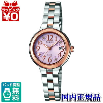 She-4506SBS-4AJF Casio SHEEN domestic regular product 5 bar waterproof solar driven Swarovski-element adoption watch watch WATCH sales type Womens Christmas gifts fs3gm