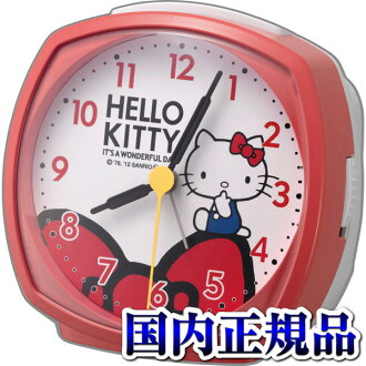 The 4RA478-M01 hello kitty R478 table clock Citizen citizen bell sound alarm step second hand
